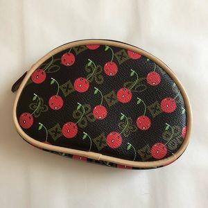 Handbags - Cherry Print Zip Pouch